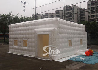 6x6m small white pvc inflatable cube tent with removable windows on 4 sides