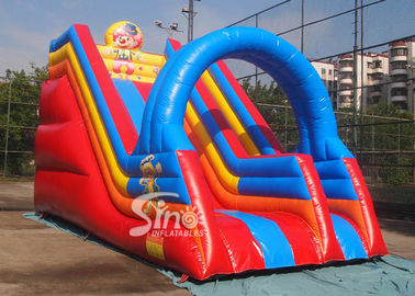 Popular children happy clown inflatable slide with arch full digitally printed