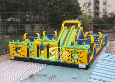 Adults N Kids Outdoor Giant Inflatable Playground With Big Slides For Sale