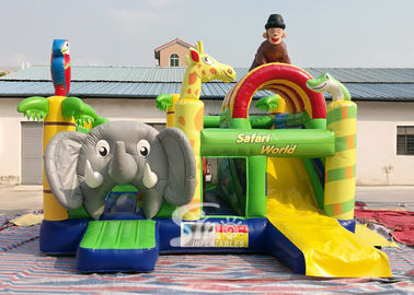 Safari World Jungle Elephant Inflatable Bouncy Castle For Kids Outdoor N Indoor Playground Fun