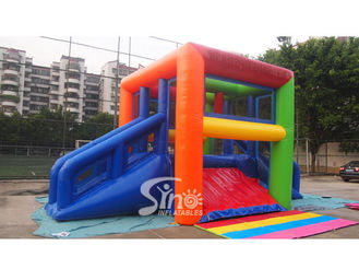 Colorful Hit And Run Adult Inflatable Game Made of Lead Free PVC Tarpaulin
