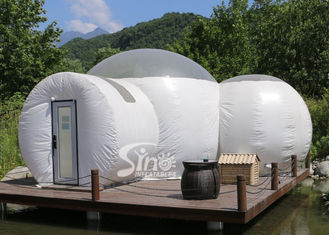 Romantic Glamping 2 Rooms Inflatable Bubble Tent Hotel With bath Room And Lock Doors from Sino Inflatables